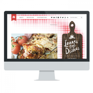 Website for Loaves and Dishes by Powersful Studios
