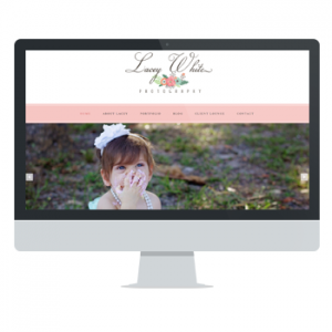 Lacey White Photography website by Powersful Sutdios