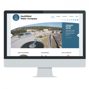 Website for SouthWest Water Company by Powersful Studios